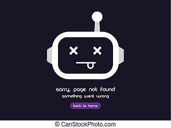 erreur, 404, page