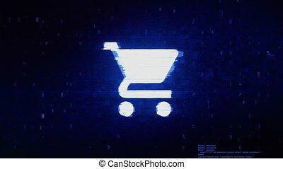 erreur, numérique, achat, charrette, chariot, pixel, bruit,...