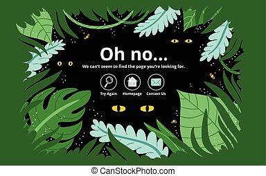 erreur, page, jungle
