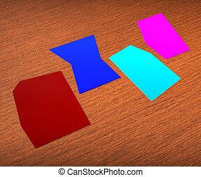 erreurs, mot, copyspace, exposition, quatre, papier, 4, lettre, vide