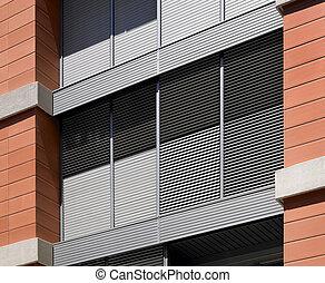 errichtendes äußeres, beton, und, mauerstein, baugewerbe