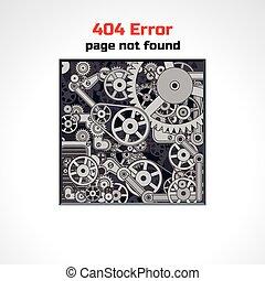 erro, página, vetorial, desenho