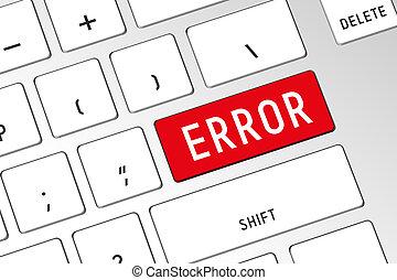 Error - 3D computer keyboard