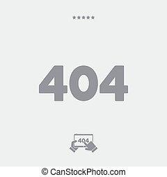 Error 404 concept - Minimal vector icon