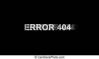 Error 404 Glitch Effect Text Digital TV Distortion 4K Loop Animation