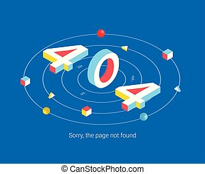 Error 404 page design concept.