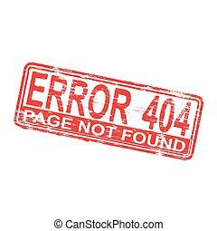 Error 404 Rubber Stamp