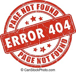 Error 404 stamp on white background