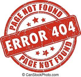 Error 404 stamp on white background