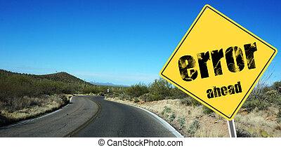 Error ahead sign