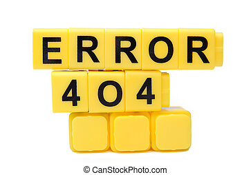 Error - An image of yellow blocks with word ''error'' on...