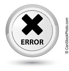 Error (cancel icon) prime white round button