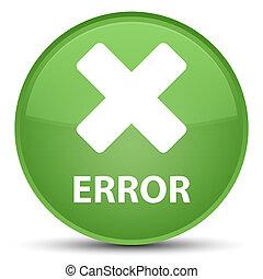 Error (cancel icon) special soft green round button