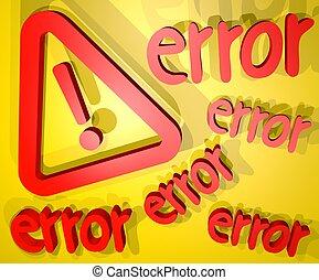 Error cover - Creative design of error cover