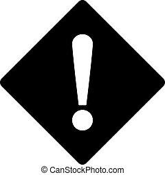 Error flat black color icon - Error icon from Primitive Set....
