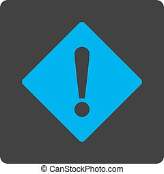 Error flat blue and gray colors rounded button