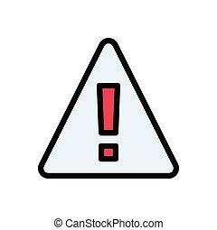 error flat color icon
