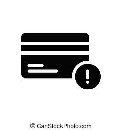 error glyph flat icon
