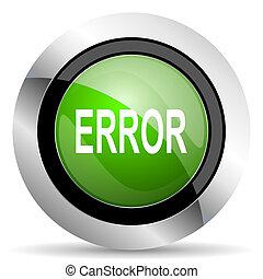 error icon, green button