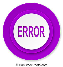 error icon, violet button