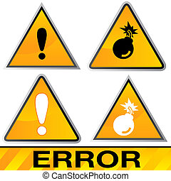 Error Icons - An image of a error icons