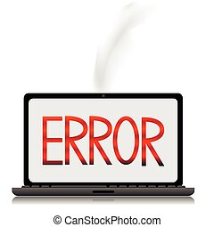 error message on a laptope screen
