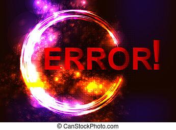 error message on network failure.