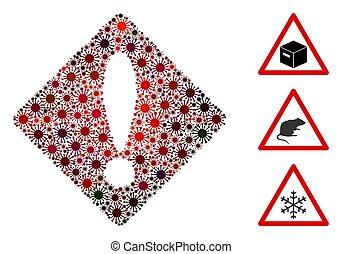 Error Mosaic of Corona Virus Items