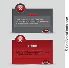 Error notification windows