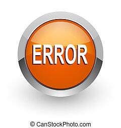 error orange glossy web icon