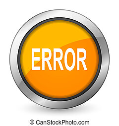 error orange icon