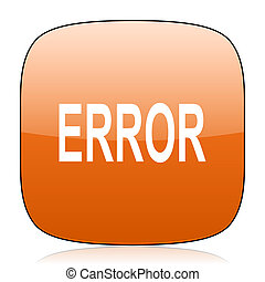 error orange square web design glossy icon