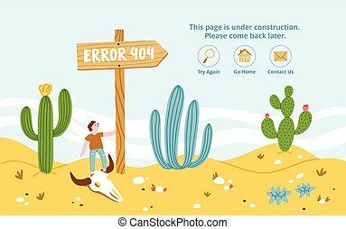 Error page in desert