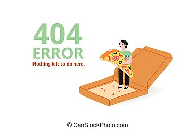 Error page with a pizza