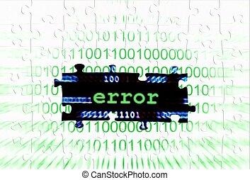 Error puzzle concept