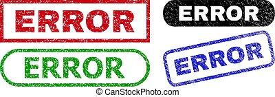 ERROR Rectangle Stamps with Rubber Texture