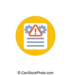 Error report, failed test icon
