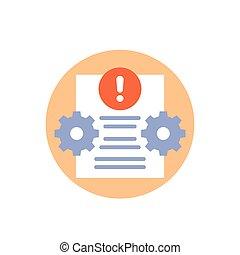 Error report or failed test icon