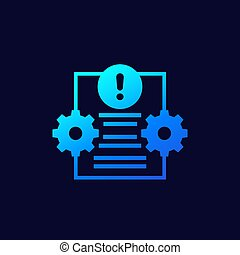 Error report or failed test vector icon