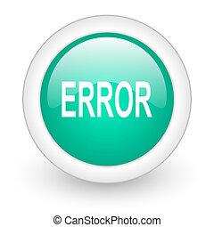 error round glossy web icon on white background