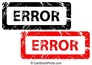 Error - rubber stamp