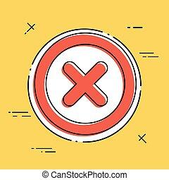 Error - Vector flat minimal icon