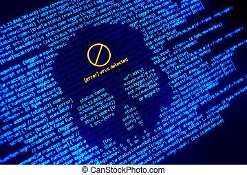 Error Virus Detected Background