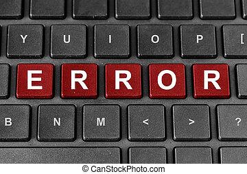 ERROR word on keyboard