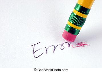 error/mistake, conceito, palavra, borracha, apagar,...