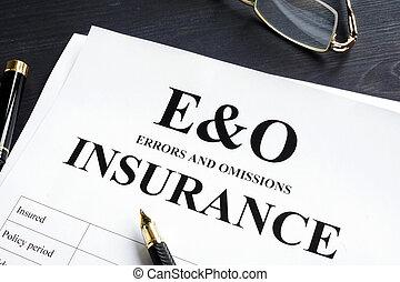 errors, form., liability., e&o, профессиональный, omissions, страхование