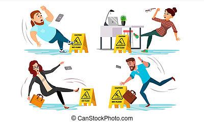 erros, apartamento, pessoas, escritório., sinal., chão,...