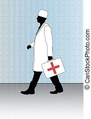 erste-hilfe, kit., doktor