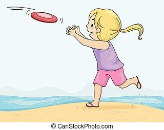 ertappen, frisbee
