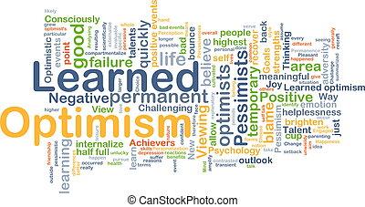 erudito, concetto, ottimismo, fondo